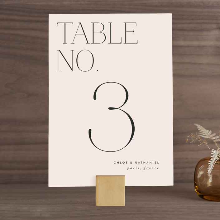 """""""Landscape"""" - Wedding Table Numbers in Champagne by Kelly Schmidt."""