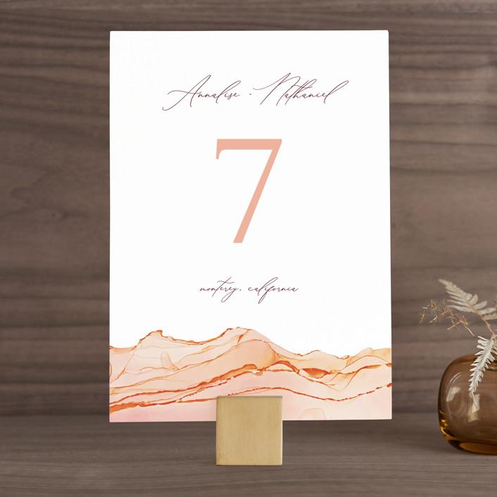 """""""Sandstone"""" - Wedding Table Numbers in Topaz by Erin Deegan."""