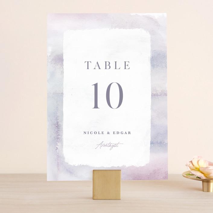 """Lavender Fields"" - Wedding Table Numbers in Lavender by Hooray Creative."