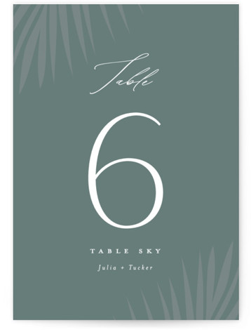 Faded Palm Table Numbers