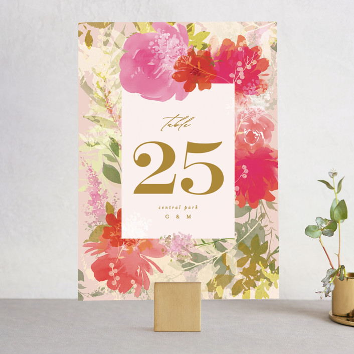 """""""Delightful"""" - Wedding Table Numbers in Delight by Phrosne Ras."""
