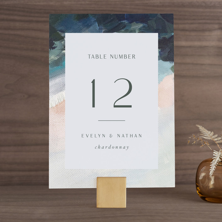 """""""Evelyn"""" - Wedding Table Numbers in Capri by Nicole Walsh."""