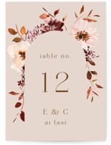 This is a pink table number by Petra Kern called Love Garden with standard printing on signature in standard.