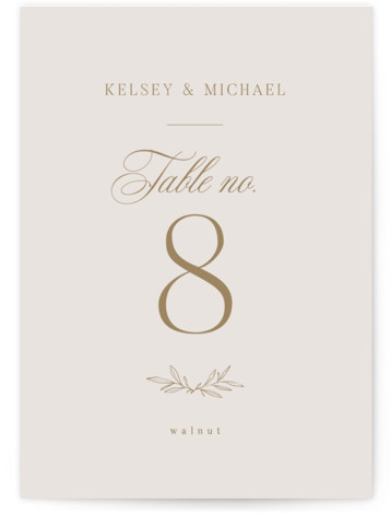 Emblem Table Numbers
