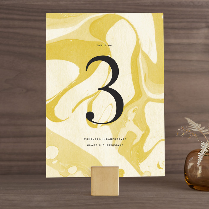 """""""Brooklynite"""" - Wedding Table Numbers in Bisque by Annie Clark."""
