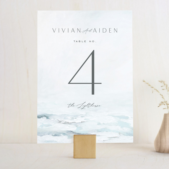 """""""At Sea"""" - Wedding Table Numbers in Sky by Nicoletta Savod."""
