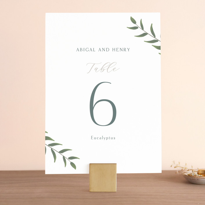 """""""Collection"""" - Wedding Table Numbers in Blanco by Kaydi Bishop."""