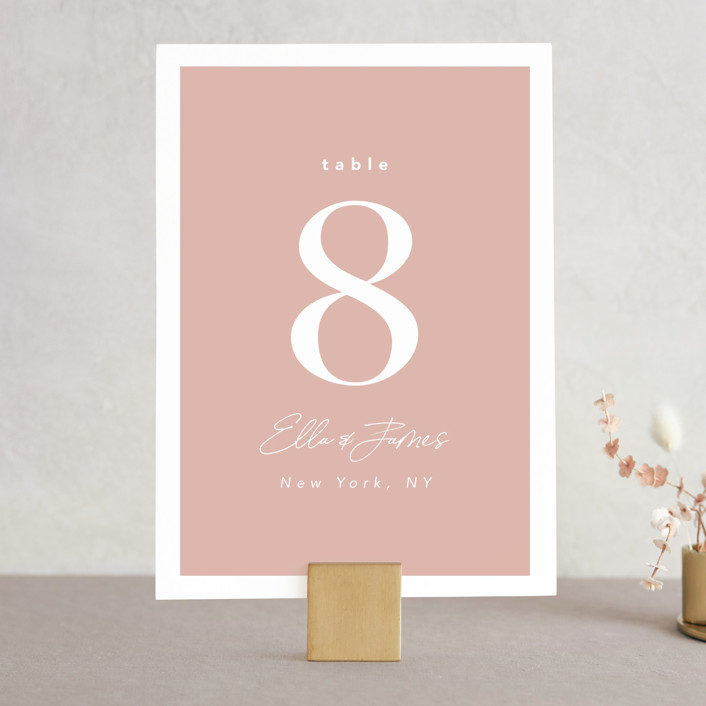 """Party Accordingly"" - Funny Wedding Table Numbers in Blush by Caitlin Considine."