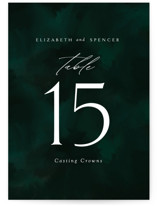 This is a green table number by Andrea Castek called emerald with standard printing on signature in standard.