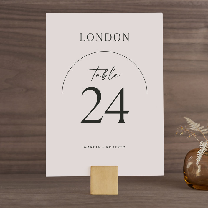 """""""Overjoyed"""" - Wedding Table Numbers in Almond by Jill Means."""