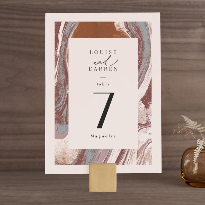 """Jasper"" - Wedding Table Numbers in Sandstone by Everett Paper Goods."