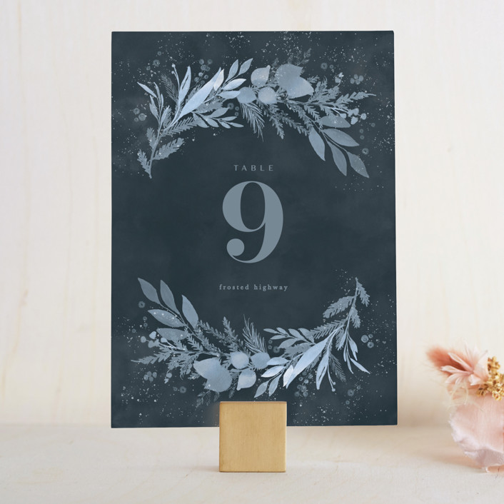 """""""Wonderful Tonight"""" - Wedding Table Numbers in Neptune by Creo Study."""