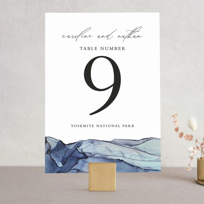 """""""Slate"""" - Wedding Table Numbers in Blue Jasper by Erin Deegan."""