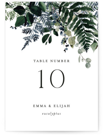 On and On Table Numbers