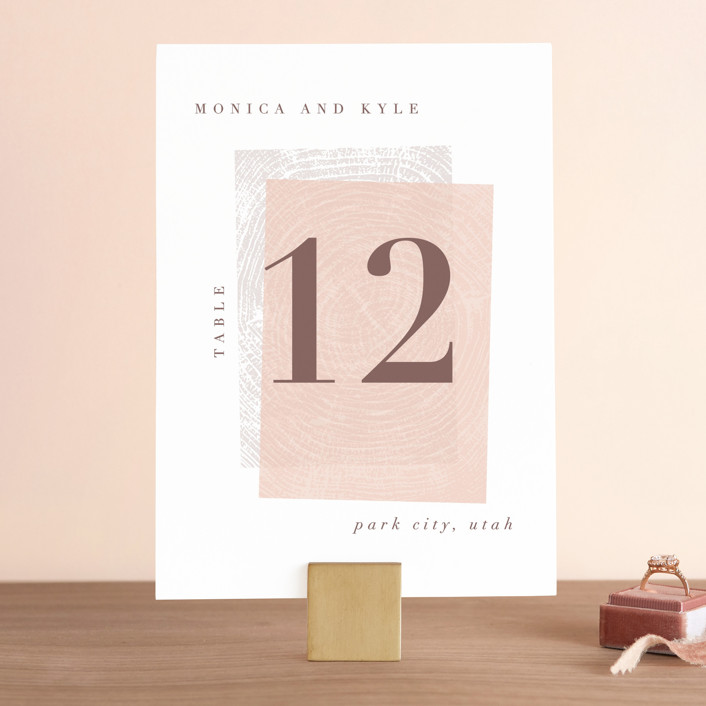 """""""engrained"""" - Rustic Wedding Table Numbers in Blossom by Robin Ott."""