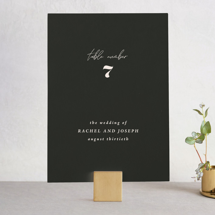 """""""Finally"""" - Funny Wedding Table Numbers in Ivory by Up Up Creative."""