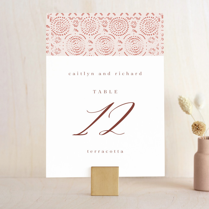 """""""Terracotta"""" - Bohemian Wedding Table Numbers in Rust by Kanika Mathur."""