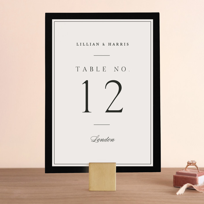 """Cambridge"" - Wedding Table Numbers in Tuxedo by Amy Kross."