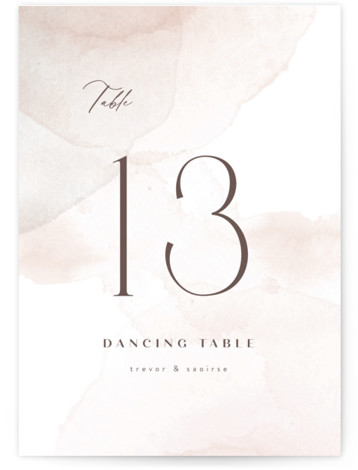 kirsch Table Numbers