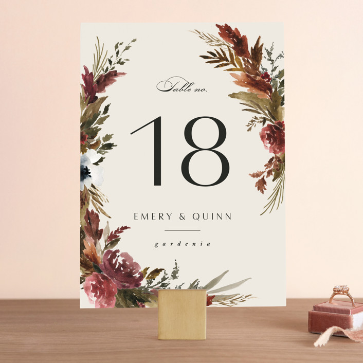 """""""poetique"""" - Wedding Table Numbers in Autumn by Kate Ahn."""