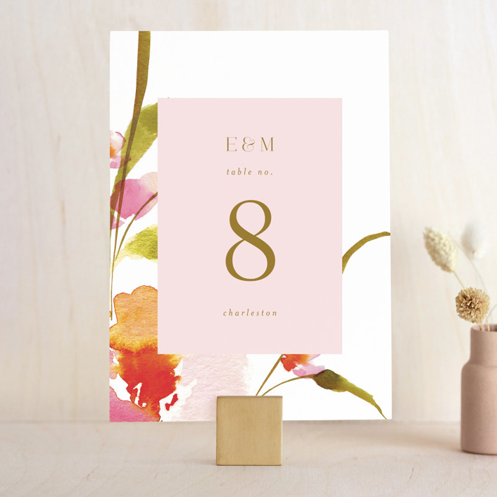 """""""colorwash floral"""" - Wedding Table Numbers in Blossom by Angela Marzuki."""
