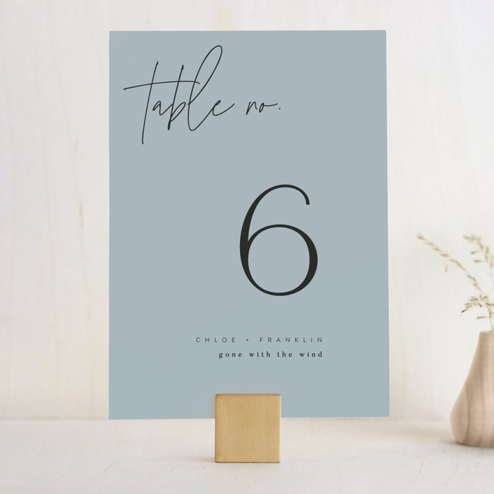 """Layered"" - Wedding Table Numbers in Cloud by Kelly Schmidt."