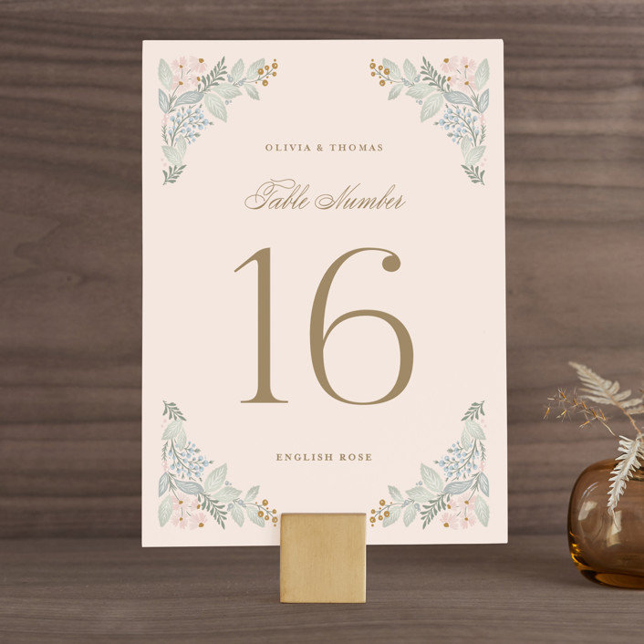 """""""Wild Flora"""" - Wedding Table Numbers in Blossom by Kristen Smith."""