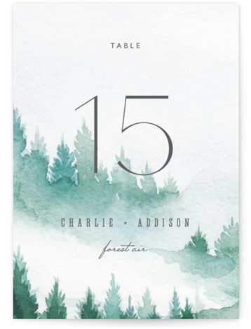 Forest air Table Numbers