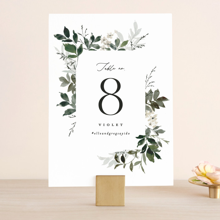 """""""Grove"""" - Wedding Table Numbers in Meadow by Everett Paper Goods."""