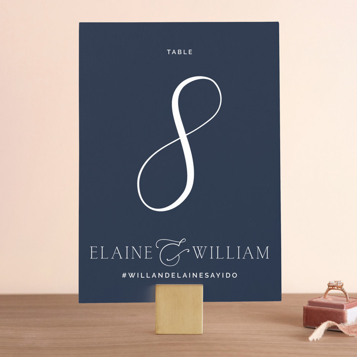 """""""Forever Intertwined"""" - Wedding Table Numbers in Navy by Lindsay Stetson Thompson."""