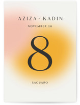 This is a yellow table number by Sarah Lenger called Blend with standard printing on signature in standard.