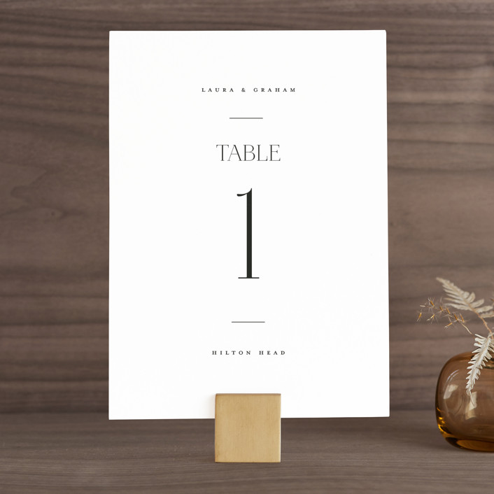 """""""conjoin"""" - Wedding Table Numbers in Pearl by Alethia Frye."""