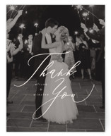 This is a beige wedding thank you card by Leah Bisch called Timeless with standard printing on signature in standard.