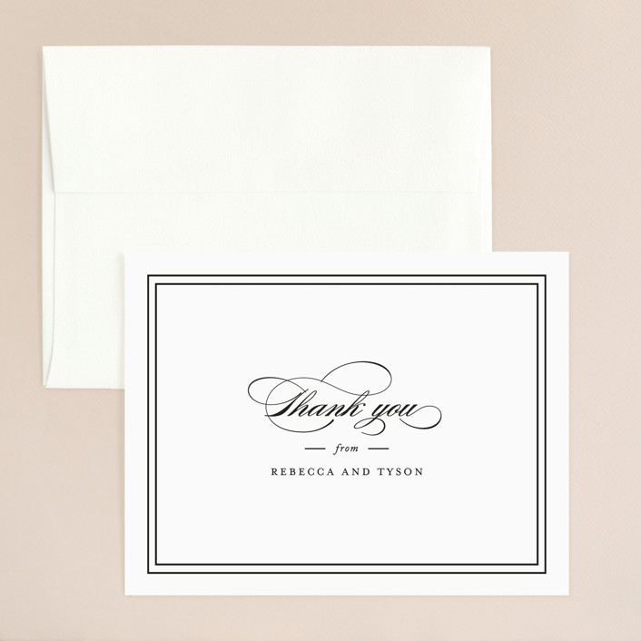 """""""Eloquence"""" - Thank You Card in Vanilla by Kimberly FitzSimons."""