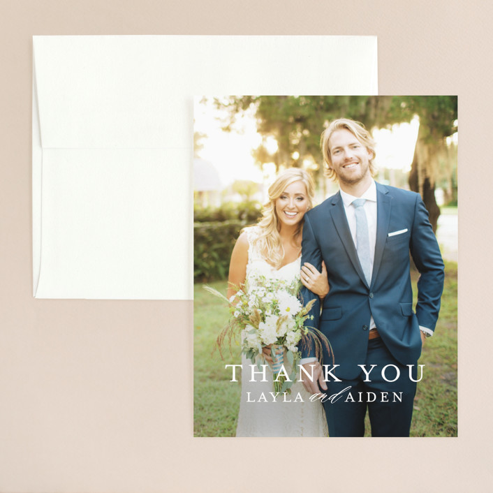 """Sedona"" - Modern Thank You Card in Desert Sands by Itsy Belle Studio."