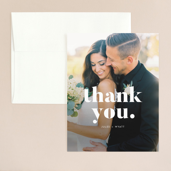 """Nolita"" - Thank You Card in Silk by annie clark."