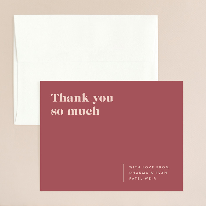 """""""headline"""" - Thank You Card in Rust by Melissa Egan of Pistols."""