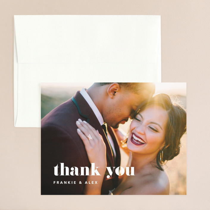 """Letters"" - Thank You Card in Silk by JoAnn Jinks."