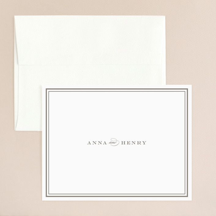 """Field"" - Simple, Elegant Thank You Card in Ash by Toast & Laurel."