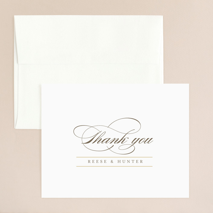 """Valencay"" - Preppy Thank You Card in Silk by chocomocacino."