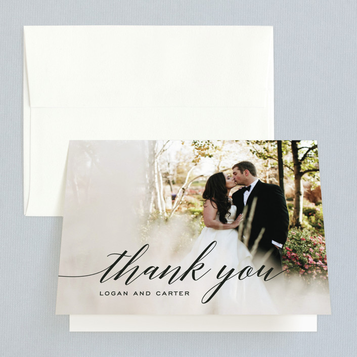 """Someone Like You"" - Thank You Card in Tuxedo by Design Lotus."