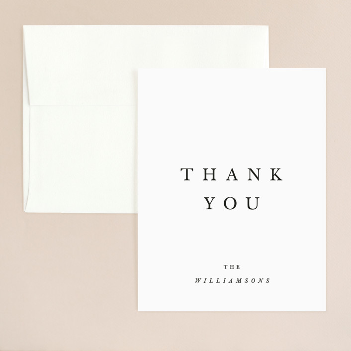 """Johannis"" - Simple, Bold typographic Thank You Card in Ink by Jack Knoebber."