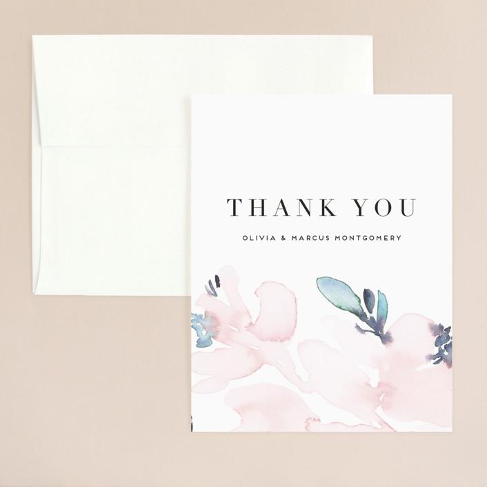 """Florista Modernista"" - Thank You Card in Azalea by Petra Kern."