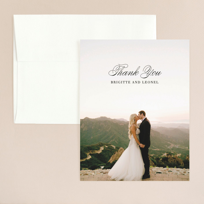 """One and Only"" - Thank You Card in Classic Bride by Design Lotus."