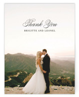 This is a black and white wedding thank you card by Design Lotus called One and Only with standard printing on signature in standard.