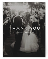 This is a blue wedding thank you card by seulghi called Modern Stamp with standard printing on signature in standard.