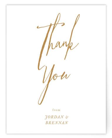 Pastoral Flat Wedding Thank You Card