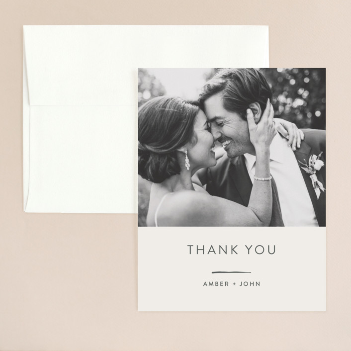 """""""Pattern Play"""" - Modern Thank You Card in Pebble by Anelle Mostert."""