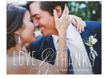 This is a orange wedding thank you card by Stacey Meacham called Today & Always with standard printing on signature in standard.