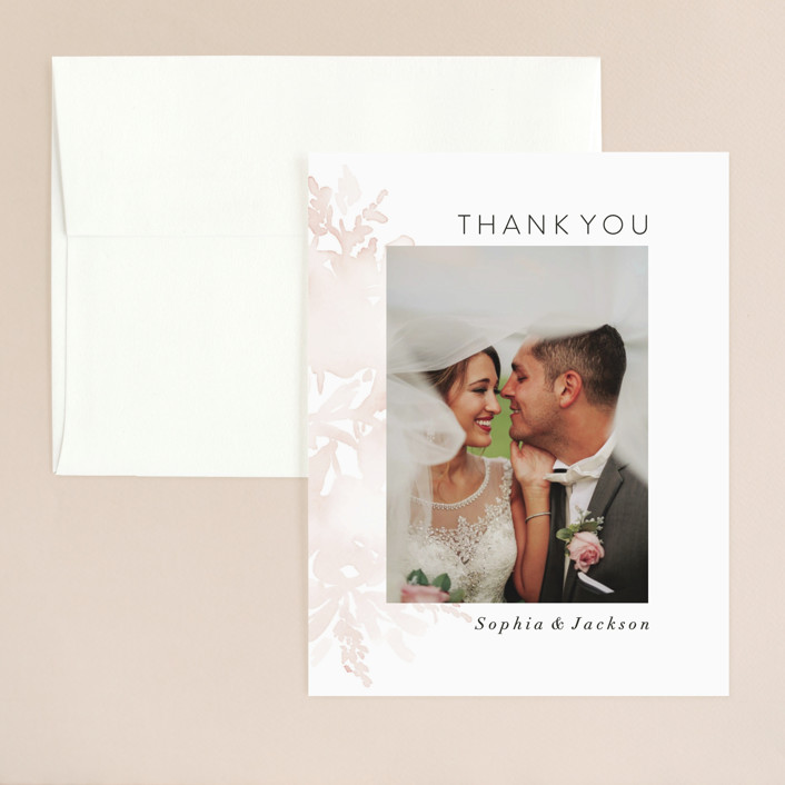 """""""Ethereal Bouquet"""" - Thank You Card in Blush by Petra Kern."""